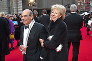 DAVID SUCHET; SHEILA SUCHET, Olivier Awards 2012, Royal Opera House, Covent Garde. London.  15 April 2012.