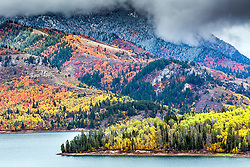 Autumn at Swan Valley's Palisades Reservoir.  The autumn of 2017 was an amazing year, perfect color and a full reservoir.  This rarely happens.