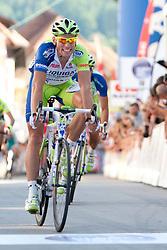 Kristjan Koren during 3rd Stage (219 km) at 19th Tour de Slovenie 2012, on June 16, 2012, in Skofja Loka, Slovenia. (Photo by Urban Urbanc / Sportida.com)