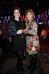Left to right, LADY LAURA CATHCART and EMMA WIGGIN  at the Tatler Little Black Book Party held at Chinawhite, 4 Winsley Street, London on 20th November 2009.