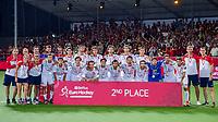 ANTWERPEN - Het Team van Spanje dat tweede wordt.  Belgie plaats zich als winnaar van het EK voor de Olympische Spelen in Tokio.   na de  finale mannen  Belgie-Spanje (5-0)  bij het Europees kampioenschap hockey. Belgie kampioen.  COPYRIGHT KOEN SUYK