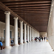 The Stoa of Attalos is a 1950s recreation of a long pavilion that was originally built around 150 BC. It was part of the Ancient Agora (market). It now houses the Museum of the Ancient Agora, which includes clay, bronze and glass objects, sculptures, coins and inscriptions from the 7th to the 5th century BC, as well as pottery of the Byzantine period and the Turkish conquest.