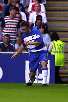 Photo: Richard Lane.<br />Reading v Coventry City. Nationwide Division One. 20/07/2003.<br />Nicky Forster celebrates his goal.