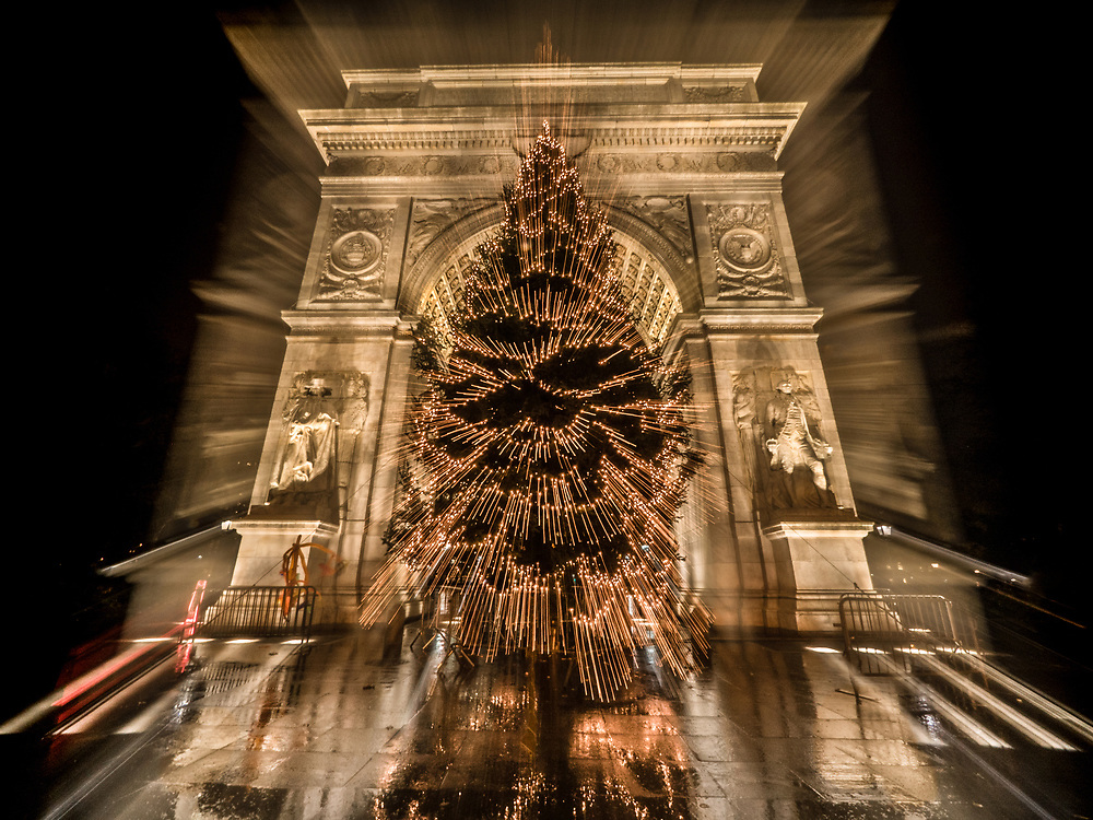Washington Square Christmas Tree, NYC