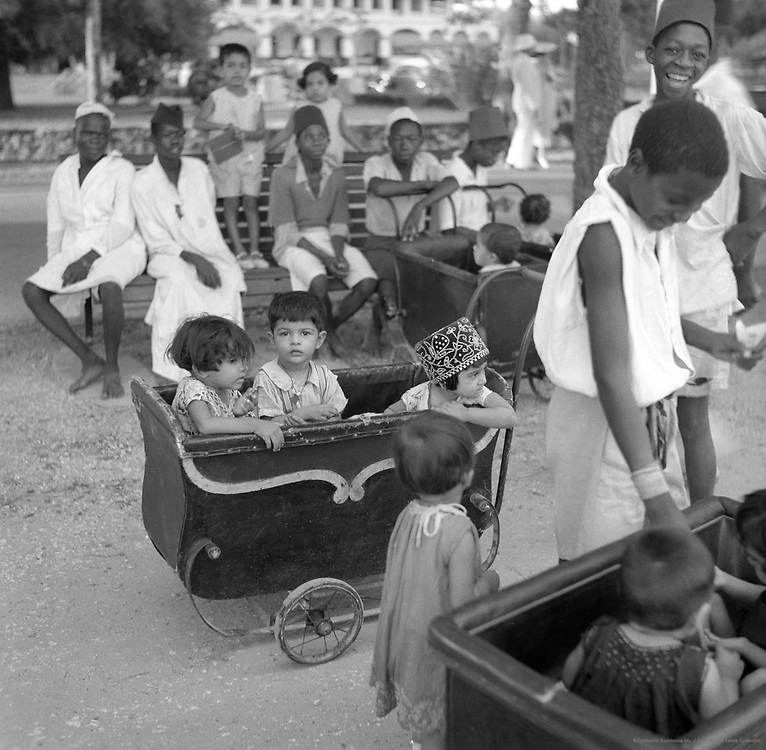 Nurse with Children, Dar-es-Salaam, Tanganyika (now Tanzania), Africa, 1937