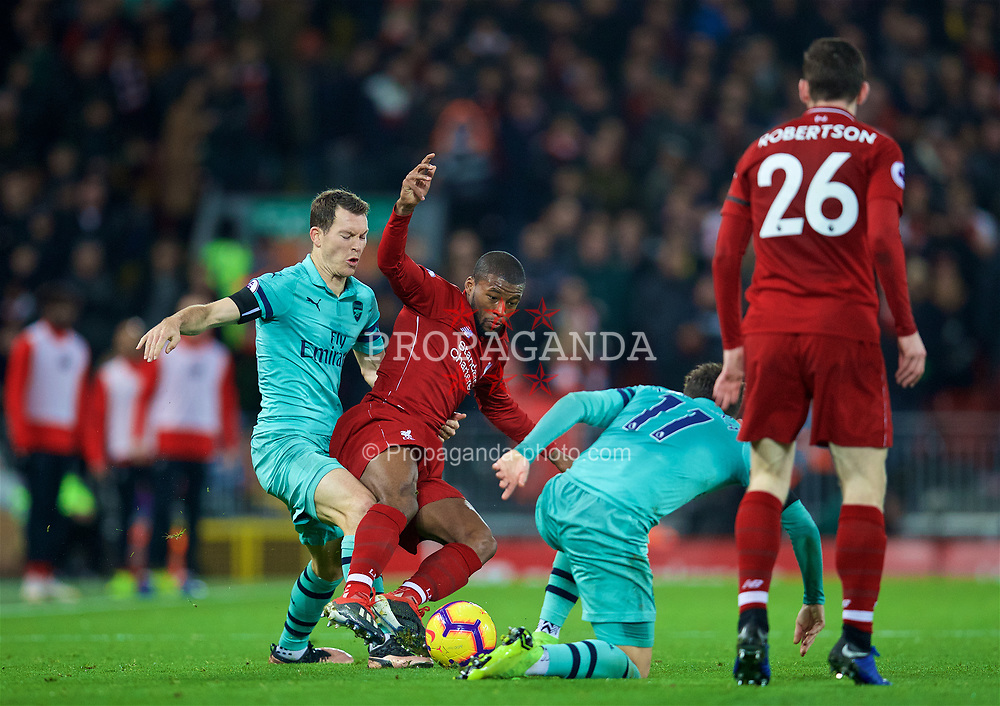 LIVERPOOL, ENGLAND - Saturday, December 29, 2018: Liverpool's Georginio Wijnaldum during the FA Premier League match between Liverpool FC and Arsenal FC at Anfield. (Pic by David Rawcliffe/Propaganda)