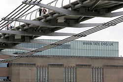 The London Millennium Footbridge leading to Tate Modern