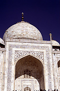 Taj Mahal, Agra, India. Mausoleum built in 1632-1654 by Shah Jahan (1592-1666) Moghul emperor 1627-1658, for his wife Arjumand Banu Begam (d1631) called Mumtaz Mahal (Favourite of the Palace).