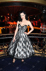 DITA VON TEESE at a party and fashion show by Agent Provocateur at the Cafe de Paris, Coventry Street, London W1 on 14th February 2005.<br /><br />NON EXCLUSIVE - WORLD RIGHTS