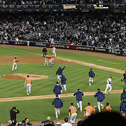 Houstron Astros players celebrate their 3-0 victory during the New York Yankees Vs Houston Astros, Wildcard game at Yankee Stadium, The Bronx, New York. 6th October 2015 Photo Tim Clayton for The Players Tribune