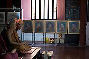 Buddhist sculptures of important monks, in a temple in Chiang Mai, Thailand. PHOTO TIAGO MIRANDA