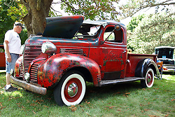 06 August 2016:  1931 Plymouth Pick up Truck<br /> owners: Rick & Melody Wagoner<br /> <br /> Displayed at the McLean County Antique Automobile Association Car show at David Davis Mansion in Bloomington Illinois