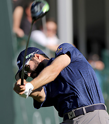 March 10, 2017 - Palm Harbor, Florida, U.S. - DOUGLAS R. CLIFFORD   |   Times.Adam Hadwin drives at #18 while playing in the second round of the Valspar Golf Championship at Innisbrook Resort and Golf Club's Copperhead Course on Thursday (3/9/17) in Palm Harbor. (Credit Image: © Douglas R. Clifford/Tampa Bay Times via ZUMA Wire)