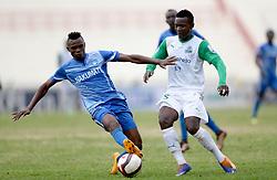 Nicholas Meja of Nakumatt FC shields against George Odhiambo of Gor Mahia during their Sportpesa Premier League tie at Nyayo Stadium in Nairobi on August, 2, 2017. Gor won 1-0. Photo/Fredrick Omondi/www.pic-centre.com(KENYA)