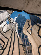 The Jean Dubuffet Sculpture entitled Monument With Standing Beast in front of the James L. Thompson Center in Chicago