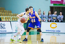 Daniel Vujasinovic of KK Zlatorog and Luka Voncina of KK Helios Suns during basketball match between KK Zlatorog and KK Helios Suns in 1st match of Nova KBM Slovenian Champions League Final 2015/16 on May 29, 2016  in Dvorana Zlatorog, Lasko, Slovenia.  Photo by Ziga Zupan / Sportida