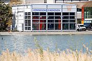 EINDHOVEN, 26-04-2021, High Tech Campus<br /> <br /> Alles klaar voor Koningsdag 2021 in Eindhoven op de High Tech Campus in Eindhoven Foto: Brunopress/Patrick van Emst<br /> <br /> Op de foto:  De studio