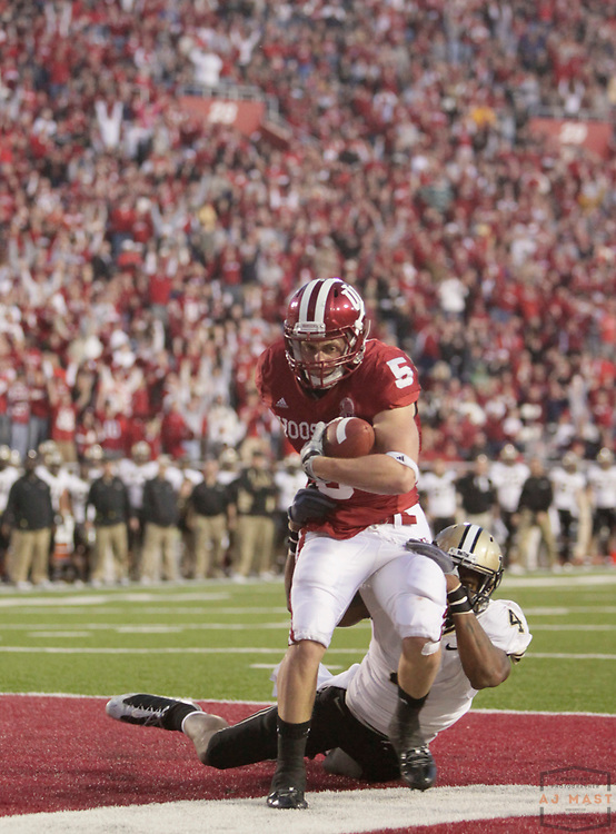 21 November 2009: Indiana wide receiver Mitchell Evans (5) as the Indiana Hoosiers played the Purdue Boilermakers in a college football game in Bloomington, Ind.