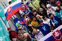 January 7, 2018 - Kranjska Gora, Gorenjska, Slovenia - Slovekian fans at the Slalom race at the 54th Golden Fox FIS World Cup in Kranjska Gora, Slovenia on January 7, 2018. (Credit Image: © Rok Rakun/Pacific Press via ZUMA Wire)