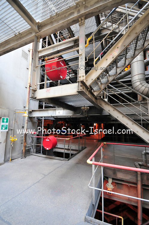 Israel, Hadera, The Orot Rabin coal operated power plant general view from within the facility