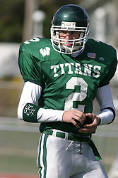 22 October 2005: Titans WR Chad Olson. The Illinois Wesleyan Titans posted a 23 - 14 home win by squeeking past the Thunder of Wheaton College at Wilder Field (the 5th oldest collegiate field in the US) on the campus of Illinois Wesleyan University in Bloomington IL