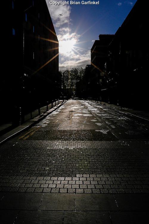 The sun is seen rising in Dublin, Ireland on Saturday, June 22nd 2013. (Photo by Brian Garfinkel)