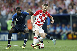(L-R) Paul Pogba of France, Ivan Rakitic of Croatia during the 2018 FIFA World Cup Russia Final match between France and Croatia at the Luzhniki Stadium on July 15, 2018 in Moscow, Russia