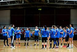 Gasper Kovac and athletes during practice session of Slovenian National Women team before 2021 World Women's Handball Championship qualifying match against Iceland, on April 12, 2021 in Arena Kodeljevo, Ljubljana, Slovenia. Photo by Vid Ponikvar / Sportida