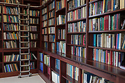 Books line the shelves in the Lee Library of the British Academy, on 17th September 2017, at 10-12 Carlton House Terrace, in London, England. The British Academy was proposed in 1899 for the promotion of Historical, Philosophical and Philological studies library is now used for study and research and even for licensed marriage ceremonies. It moved to 10-12 Carlton House Terrace in 1998 but the address was built during the late 1820s and early 1830s on land previously occupied by Carlton House, the residence of the Prince Regent, who became George IV. The neoclassical terrace was conceived by architect John Nash.