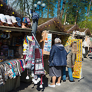 Souvenir shops in Jurmala, Latvia