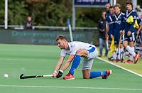AMSTELVEEN - Floris de Ridder (Kampong)   tijdens   hoofdklasse hockeywedstrijd mannen, Pinoke-Kampong (2-5) . COPYRIGHT KOEN SUYK
