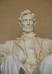Washington DC; USA: The Lincoln Memorial, Statue of President Abraham Lincoln, on the National Mall.Photo copyright Lee Foster Photo # 4-washdc76126