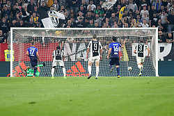 October 14, 2017 - Turin, Piedmont, Italy - Ciro IMMOBILE (SS Lazio) scores the penalty of the second goal for SS Lazio during the Serie A football match between Juventus FC and SS Lazio at Olympic Allianz Stadium on 14 October, 2017 in Turin, Italy. (Credit Image: © Massimiliano Ferraro/NurPhoto via ZUMA Press)