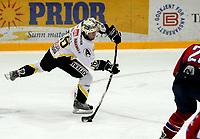 Ishockey GETLigaen 12.10.08  Lørenskoghallen Lørenskog - Stavanger Oilers<br /> <br /> <br /> Brendan Brooks skyter<br /> Foto: Eirik Førde