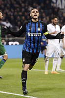esultanza gol Mauro Icardi Inter Goal celebration <br /> Milano 19-11-2017 Stadio Giuseppe Meazza in San Siro Calcio Serie A 2017/2018 Inter - Atalanta Foto Image Sport / Insidefoto
