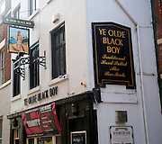 Historic Ye Olde Black Boy pub, Hull, Yorkshire, England