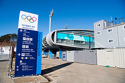 February 5, 2018 - Pyeongchang, SOUTH KOREA - 180205 General view outside the Alpensia Biathlon Centre ahead of the 2018 Winter Olympics on February 5, 2018 in Pyeongchang..Photo: Jon Olav Nesvold / BILDBYRN / kod JE / 160137 (Credit Image: © Jon Olav Nesvold/Bildbyran via ZUMA Press)