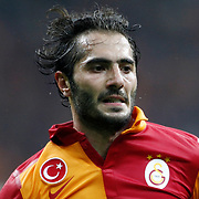 Galatasaray's Hamit Altintop during their Turkish Super League soccer match Galatasaray between Genclerbirligi at the TT Arena at Seyrantepe in Istanbul Turkey on Friday, 08 March 2013. Photo by Aykut AKICI/TURKPIX