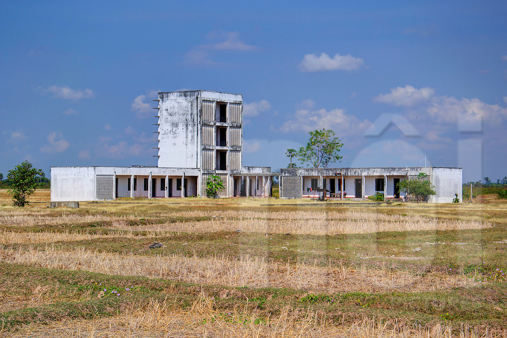 Architecture of a deserted building in Kompong Chnang Province, Cambodia, Southeast Asia
