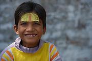 Young boy<br /> Bateshwar Temple<br /> Bateshwar Village, Agra District on banks of Yamuna River<br /> Uttar Pradesh, India