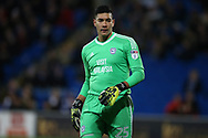 Neil Etheridge, the Cardiff city goalkeeper looks on.EFL Skybet championship match, Cardiff city v Preston North End at the Cardiff city stadium in Cardiff, South Wales on Friday 29th December 2017.<br /> pic by Andrew Orchard, Andrew Orchard sports photography.