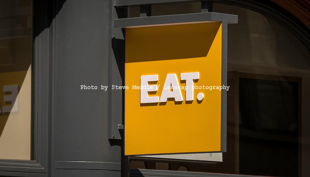 Eat, Take Away Food Shop, London, Britain - June 2014.
