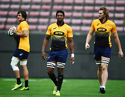 Cape Town-180622 Springbok players having a practice during the captain's run at Newlands.The team will be facing England in their last test game at Newlines stadium.Photographer:Phando Jikelo/African News Agency/ANA