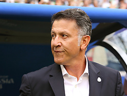 July 2, 2018 - Samara, Russia - July 2, 2018, Russia, Samara, FIFA World Cup 2018, 1/8 finals. Football match of Brazil - Mexico at the stadium Samara - Arena. Juan Carlos Osorio. Coach Juan Carlos Osorio. (Credit Image: © Russian Look via ZUMA Wire)