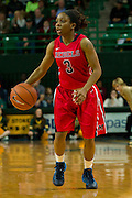 WACO, TX - DECEMBER 18: Valencia McFarland #3 of the Mississippi Lady Rebels brings the ball up court against the Baylor Bears on December 18 at the Ferrell Center in Waco, Texas.  (Photo by Cooper Neill) *** Local Caption *** Valencia McFarland