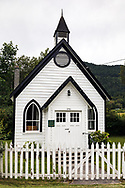 Burgoyne United Church constructed in 1887) is the oldest Protestant Church on Salt Spring Island. Photographed along Fulford-Ganges Road near Burgoyne Bay on Salt Spring Island, British Columbia, Canada.