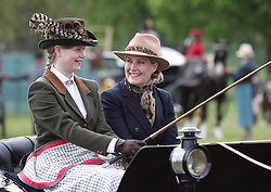 Countess of Wessex and her daughter Lady Louise Windsor during the Royal Windsor Horse Show at Windsor Castle, Berkshire.