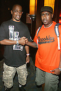 l to r: Sadat X(Brand Nubians) and Paul Jennings(Counter Point Garments) at The 2008 Black August Benefit Concert held at BB Kings on August 31, 2008..2008 begins the second decade of Black August Hip Hop Project benefit concerts which assist and support Political Prisoners. The Malcolm X Grassroots Movement is an organization whose mission is to defend the human rights of people and promote self-determination in our community.