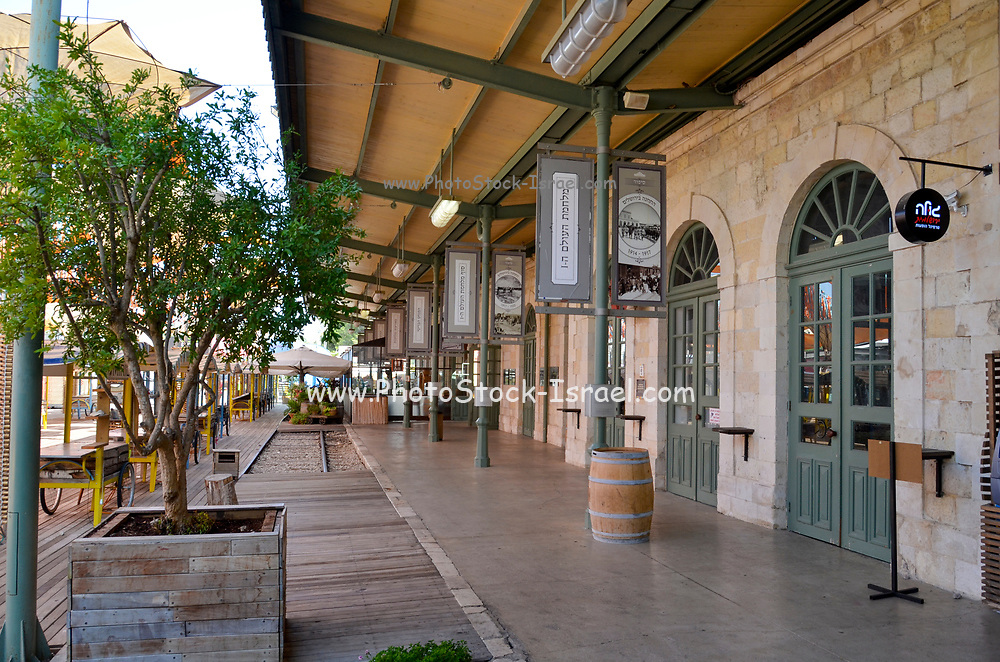 The German Colony in Jerusalem, Israel Founded by the German Templer movement who settled here and elsewhere in Israel in the late 19th century. The renovated Old railway station