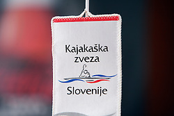 "Logo of KZS at the Press Conference where Kayak and Canoe Federation of Slovenia signed sponsorship with Coca-Cola Hellenic Slovenija for 2008 events ""Water for always - Slovenian rivers"", on February 13, 2008 in Ljubljana, Slovenia . (Photo by Vid Ponikvar / Sportal Images)./ Sportida)"